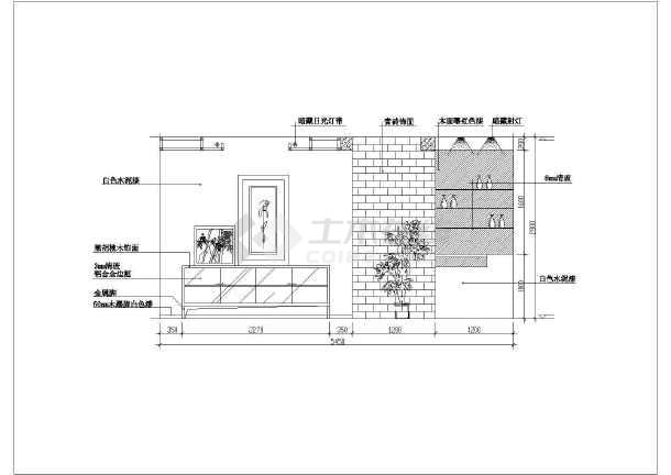 近百套室内图纸装修设计cadv图纸图纸鲁班不对比例土建客厅图片