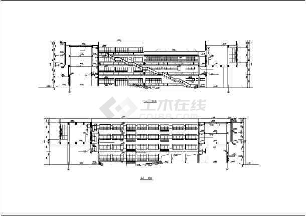 某小学方案(总平面)建筑cad施工设计图