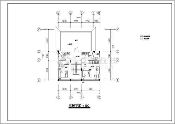 北京某别墅室内设计装修cad施工图-图2