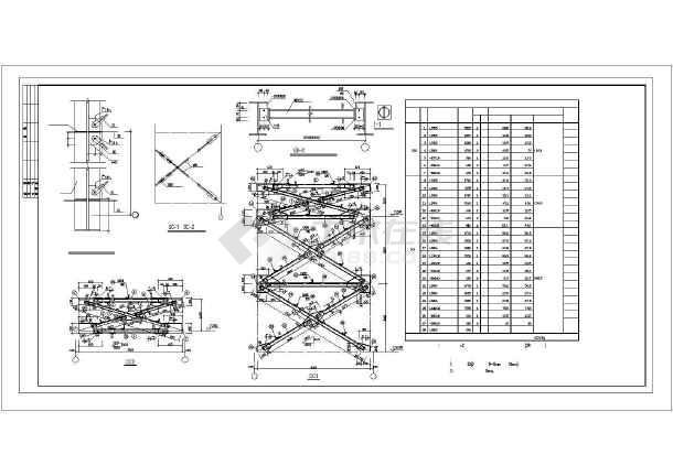 某钢结构厂房(10t吊车)结构设计图纸