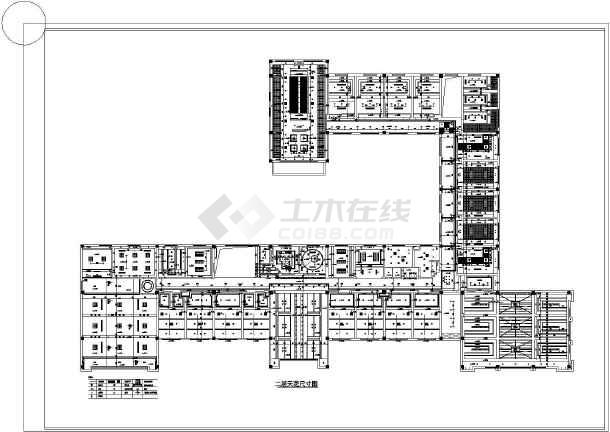 办公楼室内装饰楼梯吊顶v楼梯cad平面图cad的天花剖切符号图片