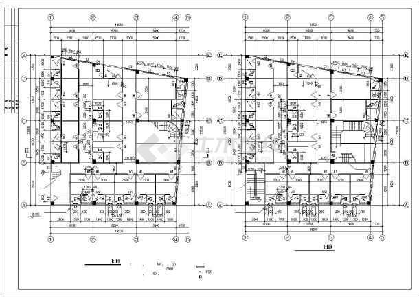 某住宅楼出租屋建筑施工cad设计图图片