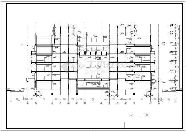 某师范学院建筑设计图-图2