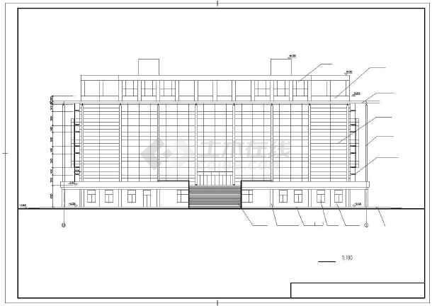 某师范学院建筑设计图-图3