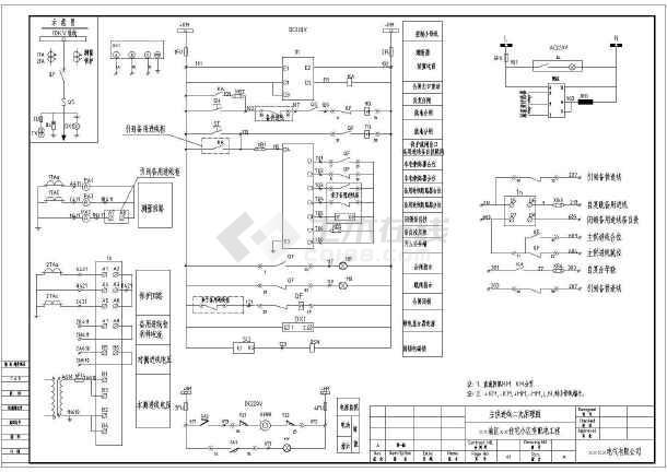 某住宅小区高压配电室设计cad高压柜电气原理图