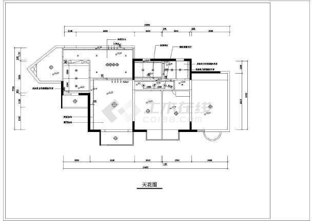 某住宅装修室内设计cad施工图-图1