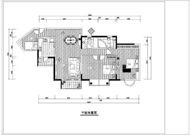 某住宅装修室内设计cad施工图-图2