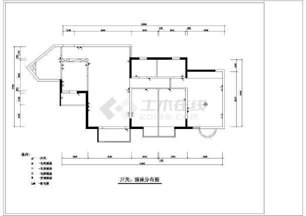 某住宅装修室内设计cad施工图-图3