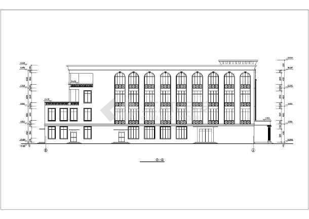 某学校食堂全套建筑施工CAD设计图-图1