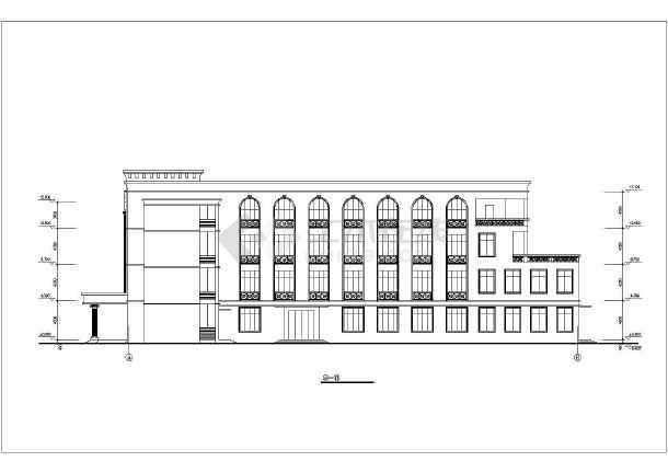 某学校食堂全套建筑施工CAD设计图-图2