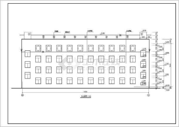 某学校综合楼施工建筑CAD设计图纸-图1