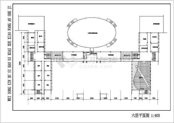 某学校建筑方案设计图-图2