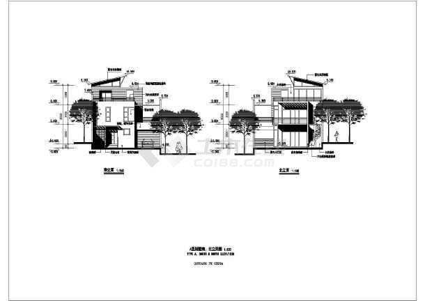 几套斜顶别墅建筑设计图-图1