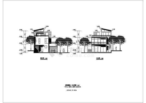 几套斜顶别墅建筑设计图-图2