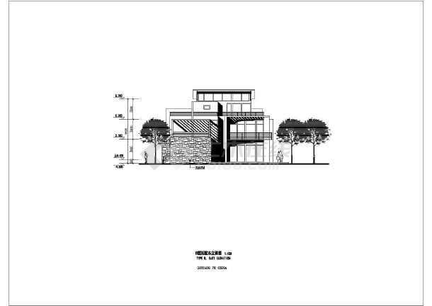 几套斜顶别墅建筑设计图-图3
