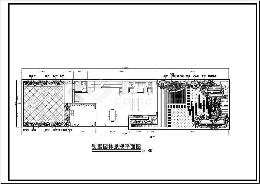 别墅园林景观建筑图-图1