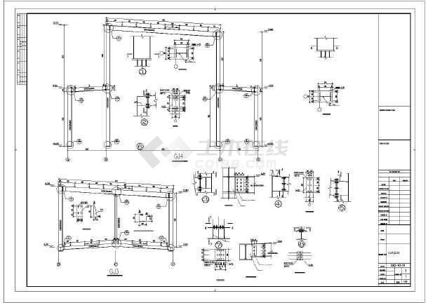某房地产售楼部钢结构图纸-图2