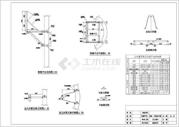 陕西农田水利工程大口井施工图-图1