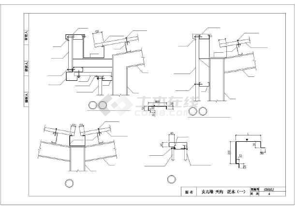 钢结构建筑构造cad素材图集-图3