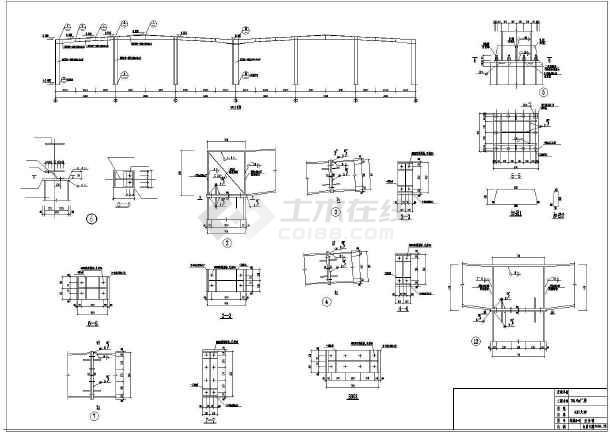 某钢结构厂房建筑结构图纸-图2