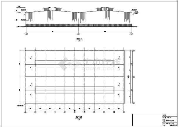 某钢结构厂房建筑结构图纸-图3