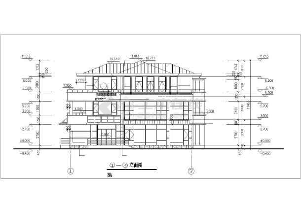 某经典别墅建筑设计图-图1