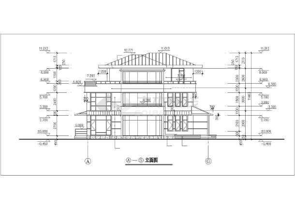 某经典别墅建筑设计图-图2