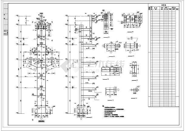 某钢结构车间施工图纸-图1