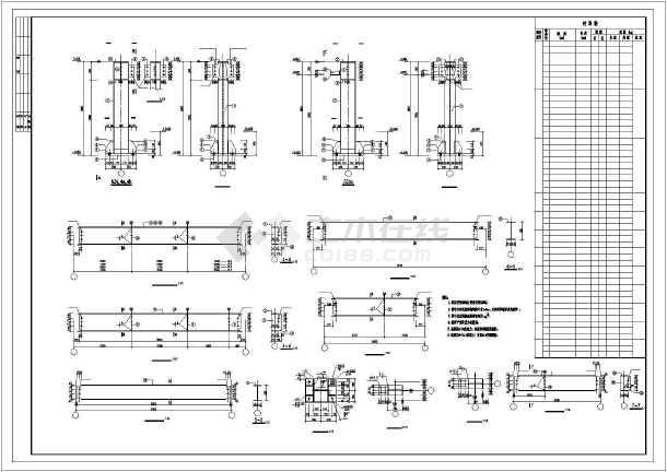 某钢结构车间施工图纸-图2