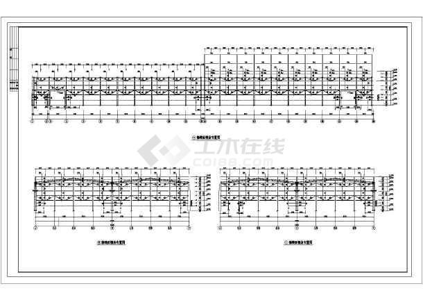 某钢结构车间施工图纸-图3
