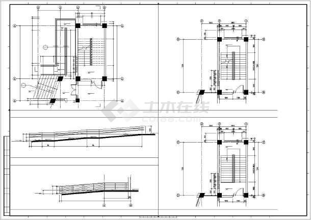 某校区综合楼建筑cad设计图-图3
