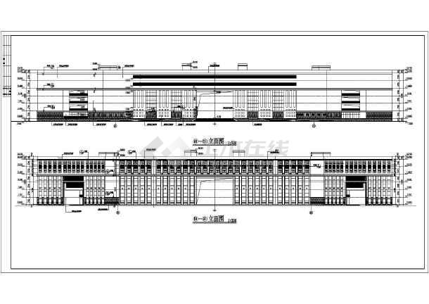 某职业技术学院建筑设计图-图1