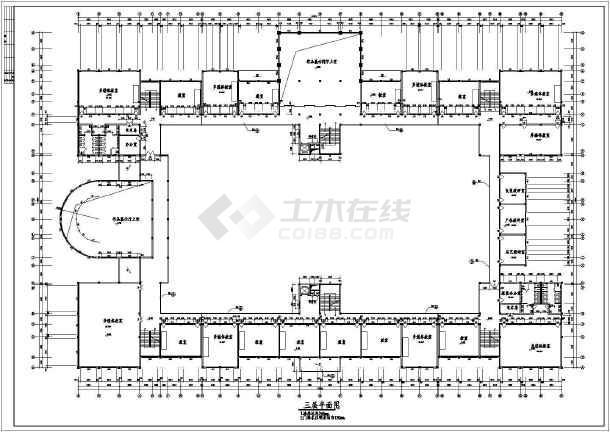 湖南工业大学艺术楼建筑CAD设计图-图1