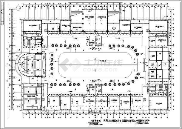 湖南工业大学艺术楼建筑CAD设计图-图2