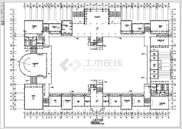 湖南工业大学艺术楼建筑CAD设计图-图3