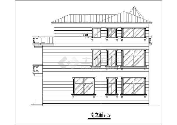 经典别墅建筑设计图-图1