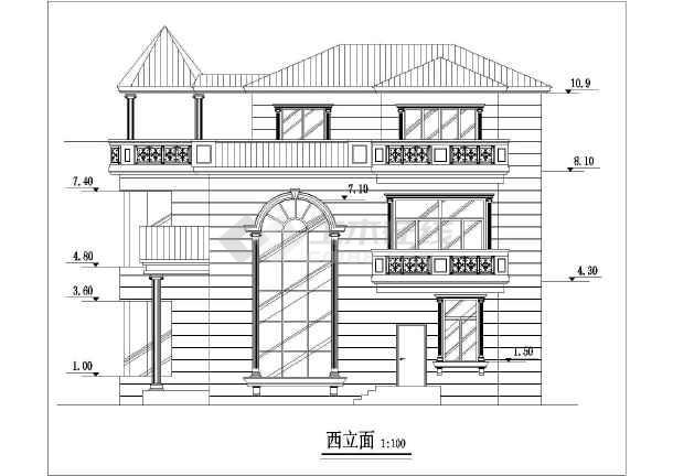 经典别墅建筑设计图-图2