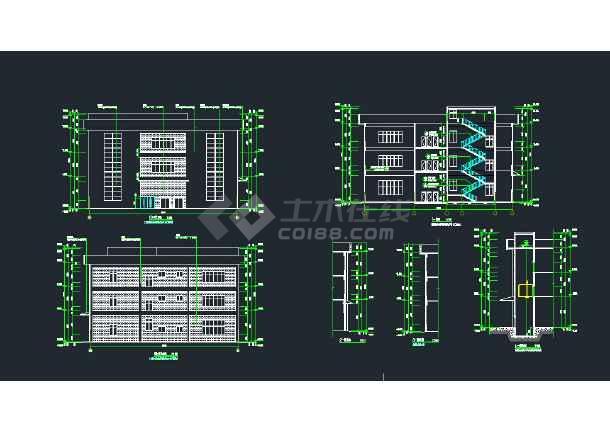 大型科技合作园 5期标准厂房 建筑施工图-图2