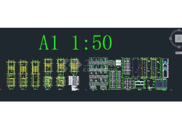 大型科技合作园 5期标准厂房 建筑施工图-图3