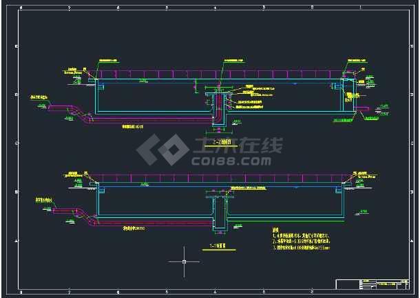 沉淀池施工图CAD图纸-图2