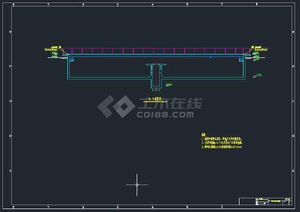 沉淀池施工图CAD图纸-图3