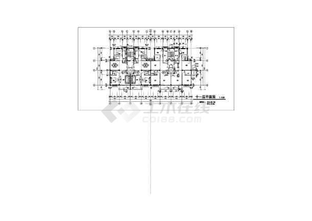 某沿街小高层建筑CAD施工图纸cad复制自动图片