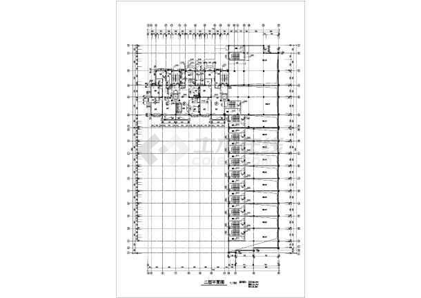 某沿街小高层建筑CADv图纸图纸cad假山立面图室内图片