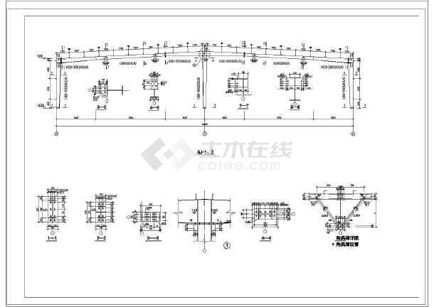 某钢结构食堂建筑结构施工图纸-图1
