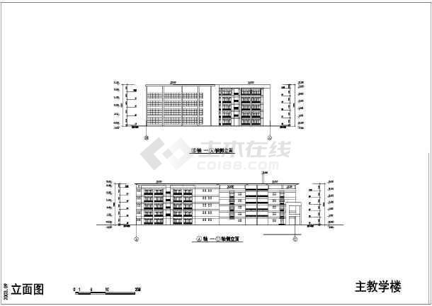 某学校建筑单体CAD设计施工图纸-图1