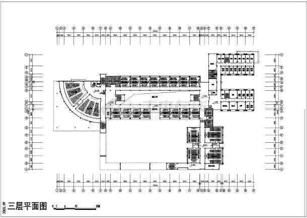 某学校建筑单体CAD设计施工图纸-图2