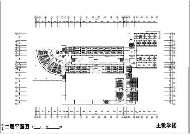 某学校建筑单体CAD设计施工图纸-图3