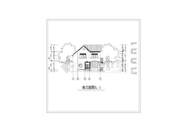 家庭小别墅建筑设计图-图2