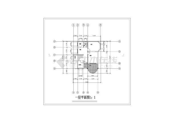家庭小别墅建筑设计图-图3