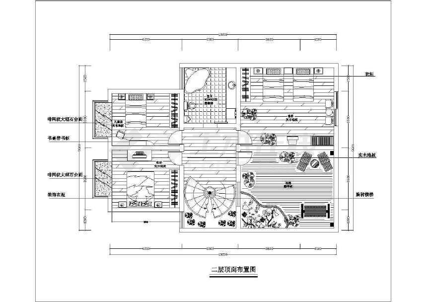 别墅装修设计方案图纸(共15张)